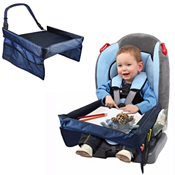 Children Toddlers Car Safety Belt Travel Play Tray Waterproof Table Baby Seat Cover Harness Buggy