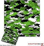 Sony PS3 Slim Skin WraptorCamo Digital Green
