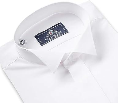 Rael Brook Camisa de vestir con cuello de ala de ajuste ...
