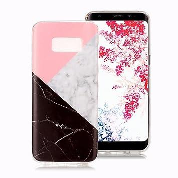 Funda Mármol para Samsung Galaxy S8, Ronger Carcasa Gel TPU Silicona Marble Case Cover Funda Ultra Fino Flexible con Patrón de Piedra para Funda ...