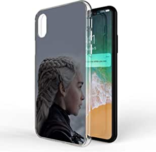 Okteq Clear TPU Protection and Hybrid Rigid Clear back cover printed Compatible with apple Iphone X and Iphone XS 5.8 inch only - arya stark 6 By Okteq