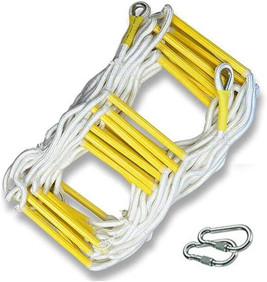 DOPORA Escalera de Emergencia contra Incendios, Escalera de Cuerda de Seguridad Resistente a Las Llamas con Ganchos y Escalera de Cuerda Resistente y Reutilizable para niños y Adultos,20M: Amazon.es: Hogar