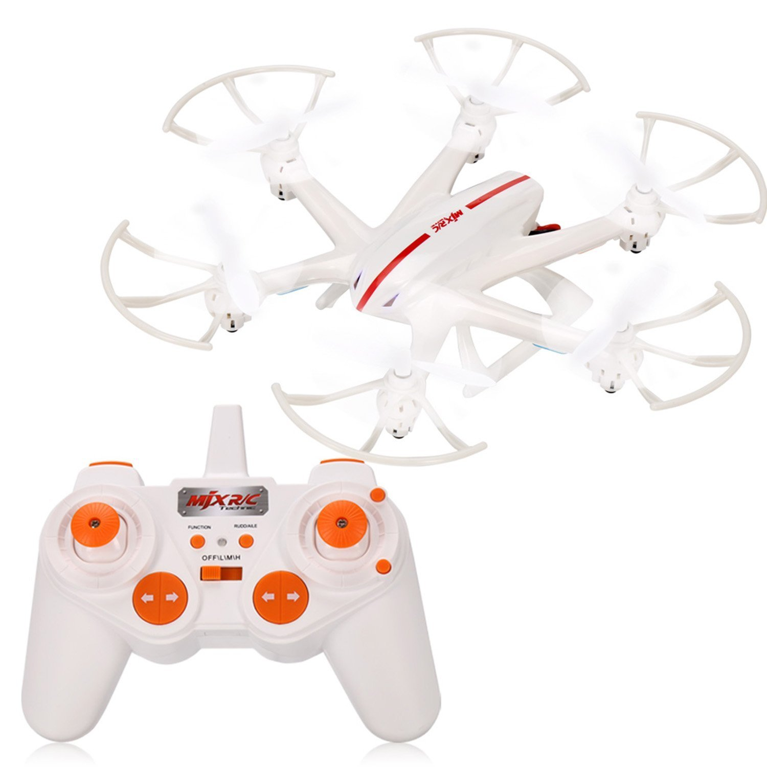 Voomall MJX X800 Hexacopter RC Quadcopter Drone 2.4GHz 6-Axis Gyro 3D Roll Weiß