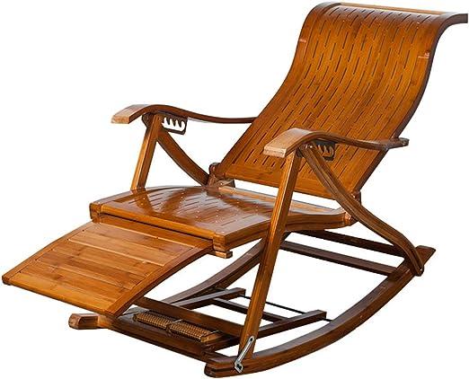 WZB Silla de jardín reclinable Vintage Sillón reclinable Silla de Descanso de Madera Mecedora de Madera Tumbonas Sillas de Cubierta Ajustables Tumbona Plegable para Piscina de jardín: Amazon.es: Hogar