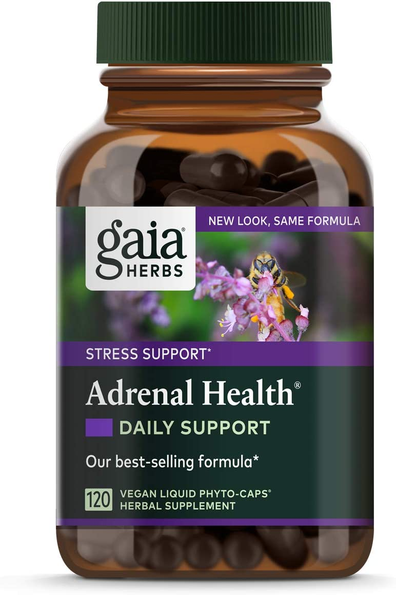 Gaia Herbs Adrenal Health Daily Support, Stress Relief and Adrenal Fatigue Supplement, Packaging may Vary: Health & Personal Care