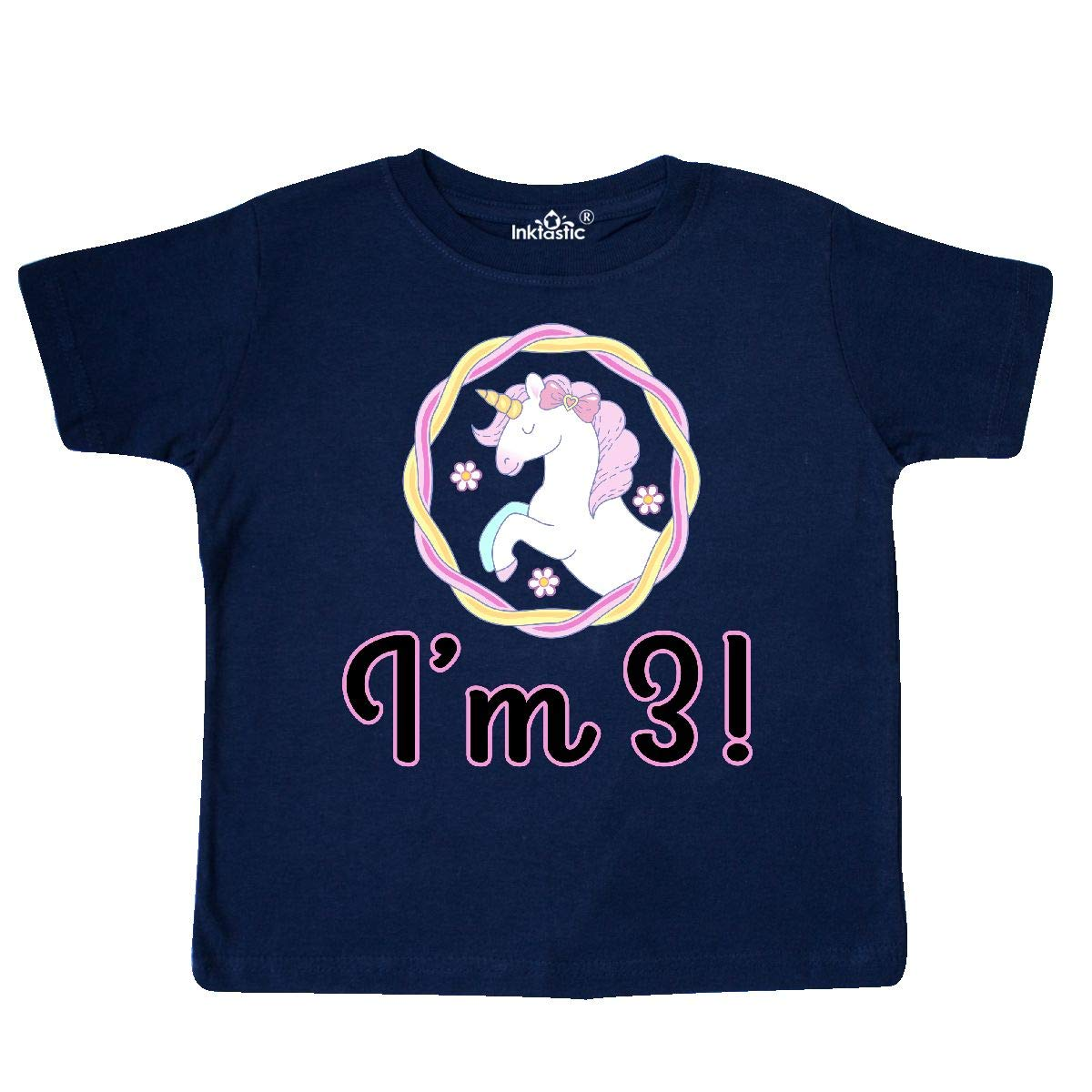 inktastic 3rd Birthday Party Unicorn 3 Year Old Toddler T-Shirt