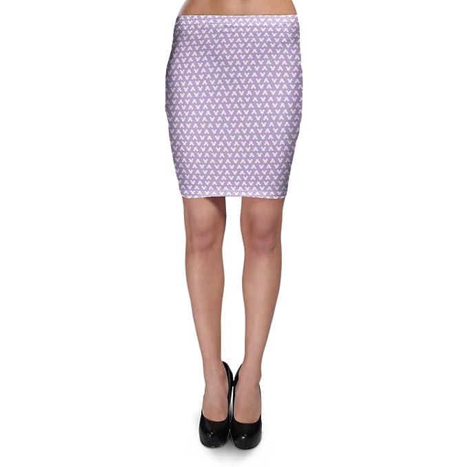 Mickey Mouse lunares lila Bodycon falda XS-3 X L Elástico Falda ...