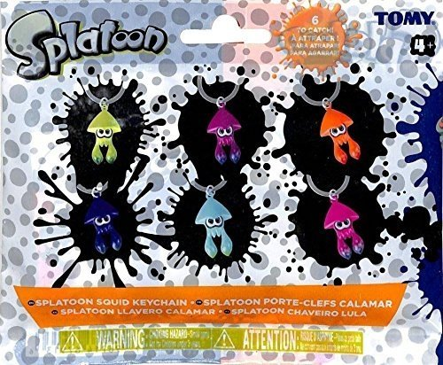 Splatoon Squid Keychain Mystery 4 Packs