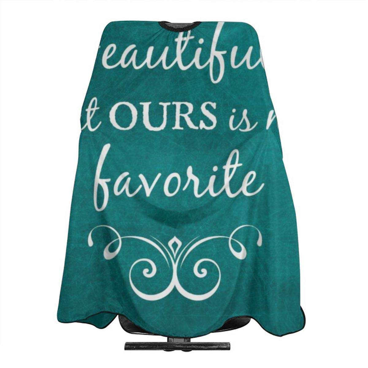 Amazon.com JinSPef Haircut Cape Teal Quotes Inspirational