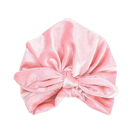 KOBWA Baby Girl Cappello con Orecchie da Coniglio per i più Piccoli Morbida Turbante  Nodo Arco 8197d5ce1099