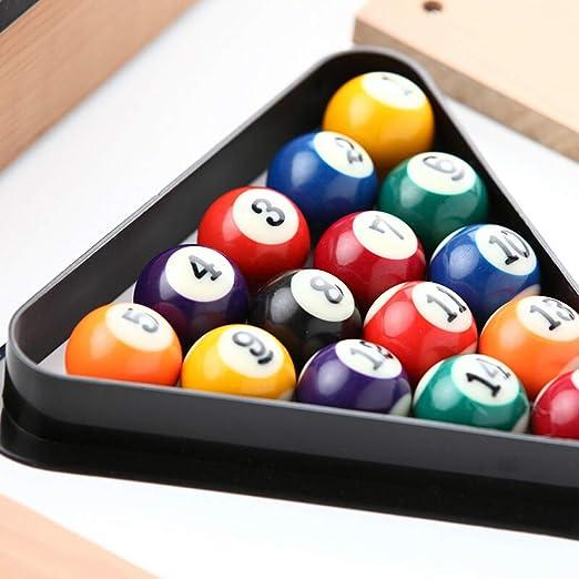 TY-Pool Table MMM@ Mesa de Billar para niños Inicio Mini pequeño Juguete de Billar Mesa de Terciopelo Gran Capacidad Red de Bolas sólidas Taco de Billar Adecuado para Personas Mayores de 3