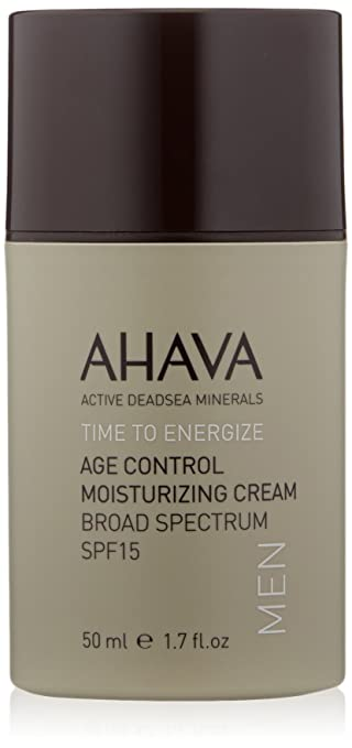 AHAVA Time to Energize Age Control Moisturizing Cream For Men, 1.7 fl. oz.