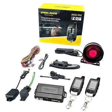 Steelmate 888E 2 Vías LCD Alarma Sistema de Seguridad de ...
