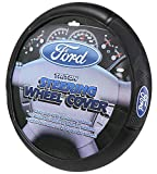 """Ford Logo Steering Wheel Cover - Car Truck SUV & Van, Performance Diamond Grip, Universal Size Fit 14.5""""-15.5"""", Auto Interior Accessories - by Infinity Stock"""