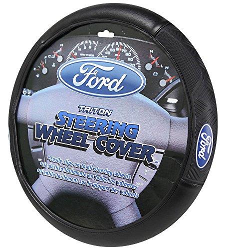 Ford Logo Steering Wheel Cover - Car Truck SUV & Van, Performance Diamond Grip, Universal Size Fit 14.5