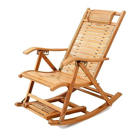 Folding chair Silla de bambú, Silla Mecedora de bambú ...