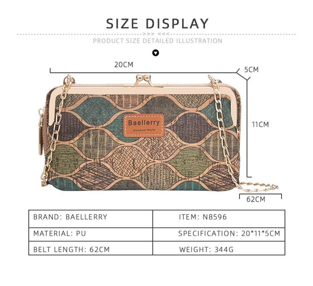 Axelväska för kvinnor liten mode träfiber mobiltelefonväska plånbok (färg: 1) 1