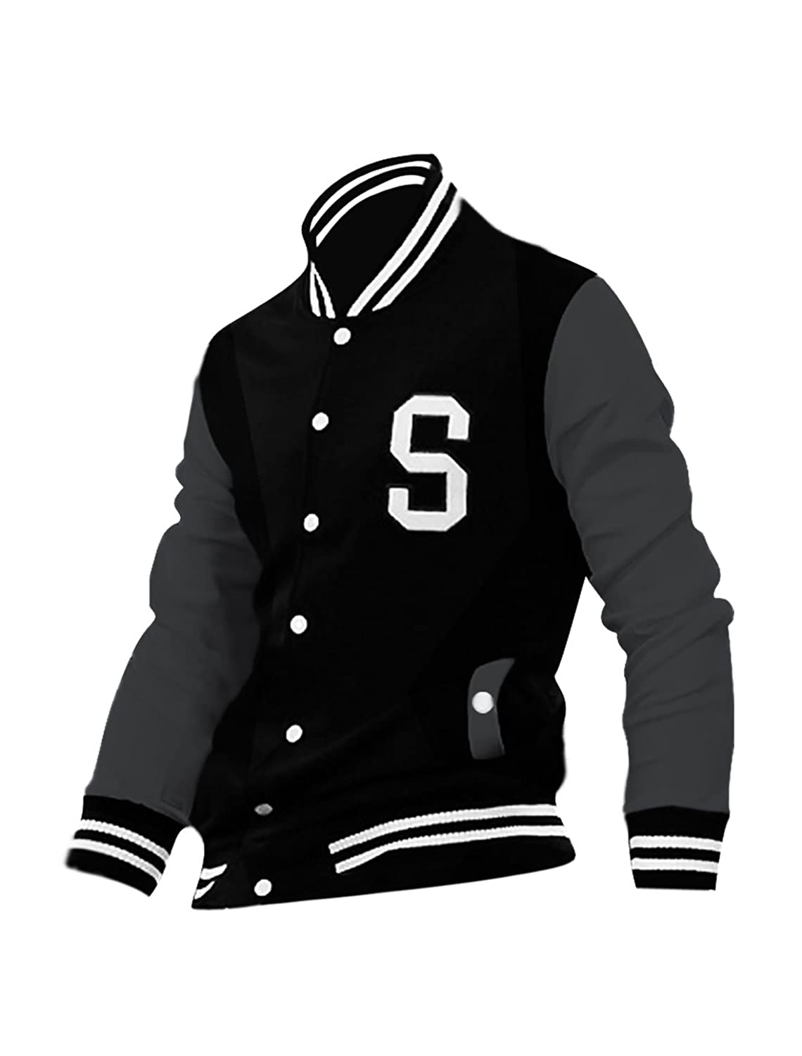 allegra k men long sleeves button front letters varsity jacket at amazon mens clothing store varsity jackets