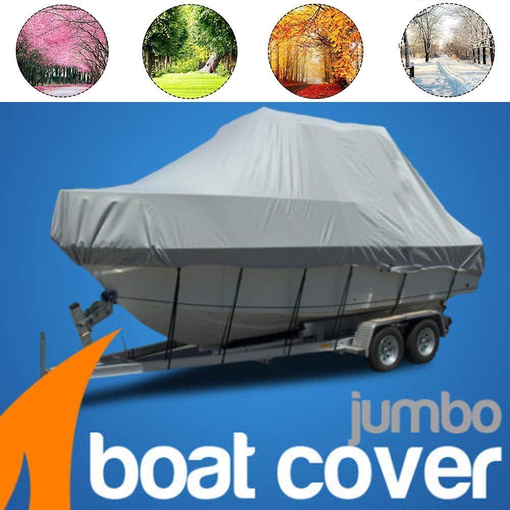 600D UV-best/ändige und wetterfeste Au/ßenschutzabdeckung 11-24ft gro/ße Bootsabdeckung f/ür Runabout Jumbo Boat Fishing Boat Covers