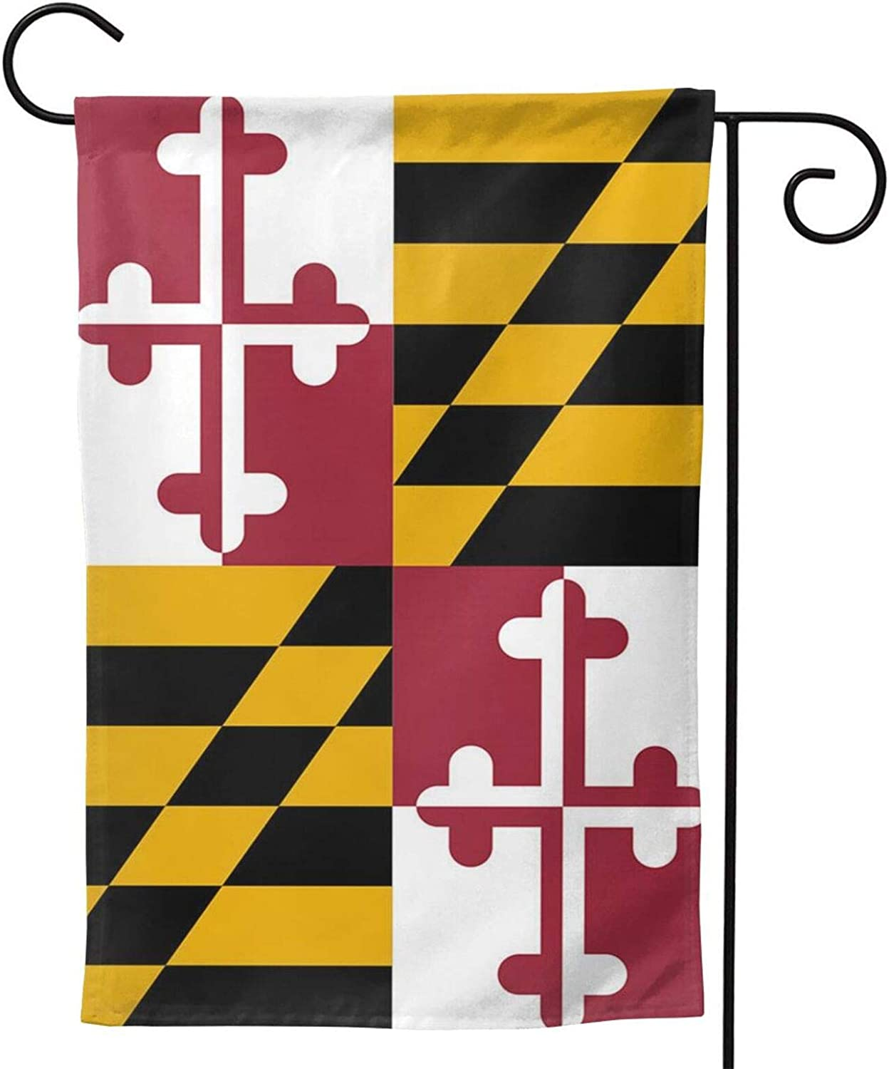 ainidamiss Maryland Md Double Sided Garden Flag, Premium Material, Outdoor Decorative Small Flags for Home House Garden Yard Lawn Patio, 12.5 x 18.5 inc