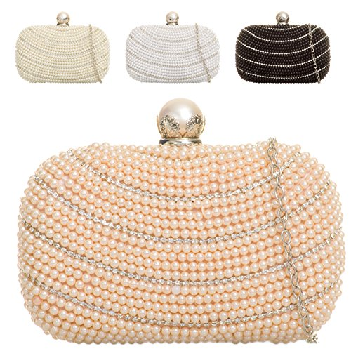 Handbag Clutch Black Pearl Purse Cocktail Crystal Women's 2 Ladies Bag K141 Box Evening ECnqp8