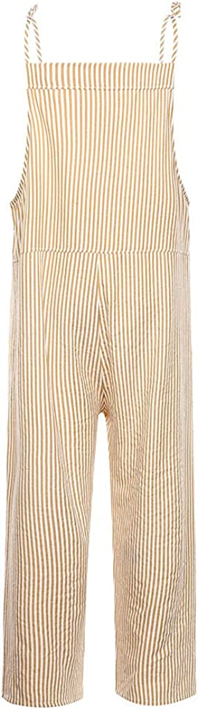 Women Sleeveless Jumpsuit,Sexy Lace Up Spaghetti Stripe Playsuit Romper with Pocket