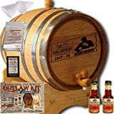 Personalized Outlaw Kit (Orange Brandy) ''MADE BY'' American Oak Barrel - Design 077: Dad's Poker Reserve - Master Distiller Series (1 Liter)