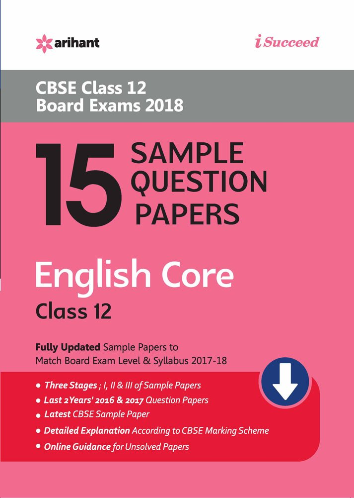 15 sample question papers english core for class 12 cbse amazon in
