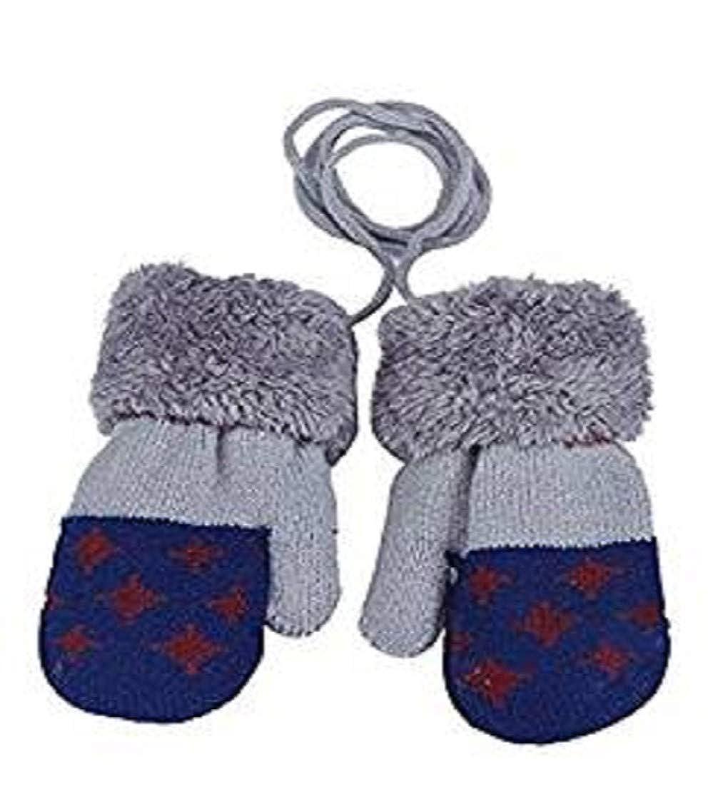 AMEIDD Gants de bébé de 0 à 3 ans Gants chauds d'hiver pour bébés garçons filles, Cartoon mignon épaissir mitaines nouveau-né; Joli crochet Gants et moufles