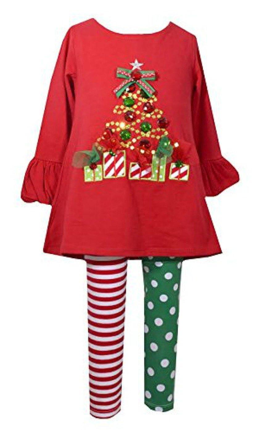 【同梱不可】 Bonnie Jean マルチカラー Girlsレッドツリーニットクリスマスレギンスセット 3 - 6 Months - Jean マルチカラー B01M24E7O2, プラスマート:65a13521 --- a0267596.xsph.ru