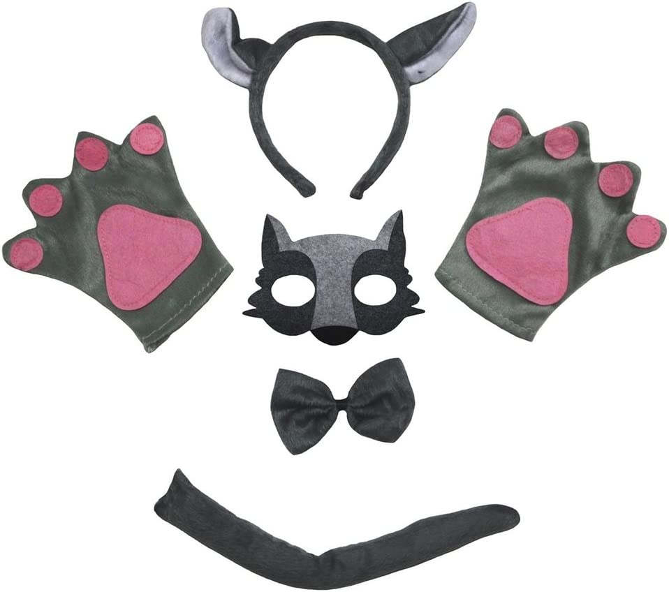 Petitebelle Lobo máscara de la venda Guantes de cola Bowtie ...