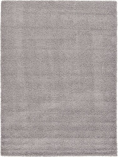 11 Modern Rug Collection - Unique Loom Solo Solid Shag Collection Modern Plush Cloud Gray Area Rug (8' 0 x 11' 0)