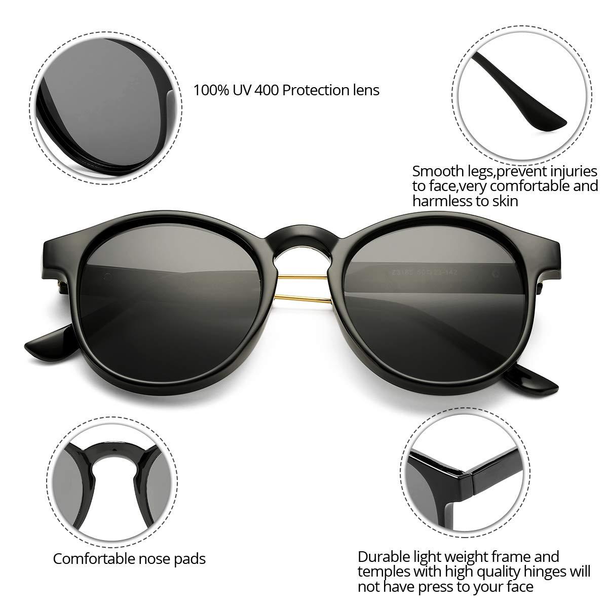 Amazon.com: Bouryo - Gafas de sol redondas para hombre y ...