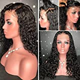 8A Glueless Full Lace Human Hair Wigs for Black Women Curly Brazilian Virgin Hair Lace Front Wig with Baby Hair(12inch with 130 density,Full Lace Wig)