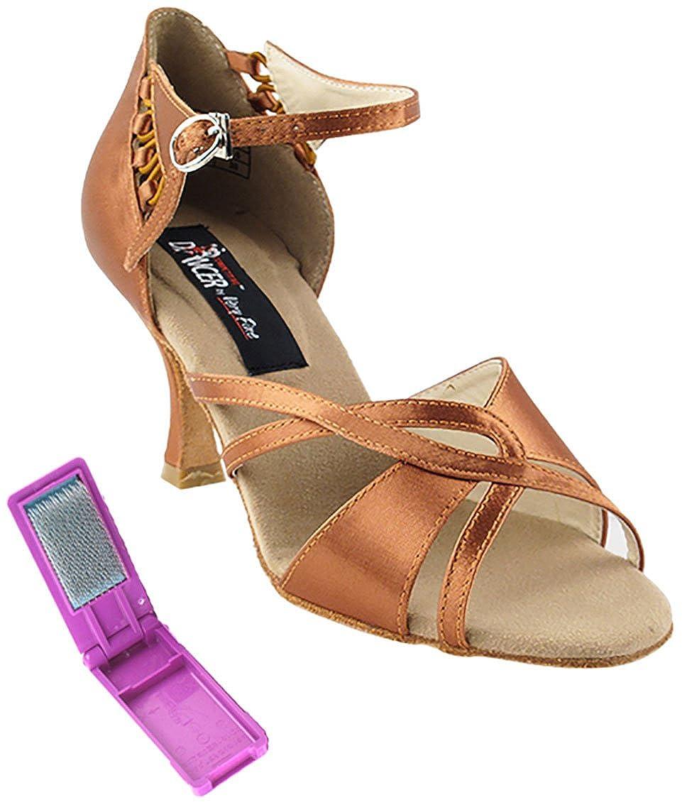 [Very Fine Dance Shoes] レディース B072383M89 ダークタンサテン 6.5 B(M) US