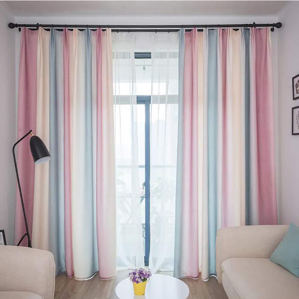 Be&xn Verdunkelungsgardinen mit Raffhalter, Gradient Streifen Lässige vorhänge mit Haken Für Wohnzimmer familienzimmer, Lange vorhänge Fenster, 1panel-Dunkelbraun 270x300cm(106x118inch) B07JK1PG5R Vorhnge