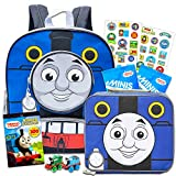Thomas and Friends Backpack and Lunch Box Set with Stickers and 2 Thomas Minis Trains (Thomas the Train)