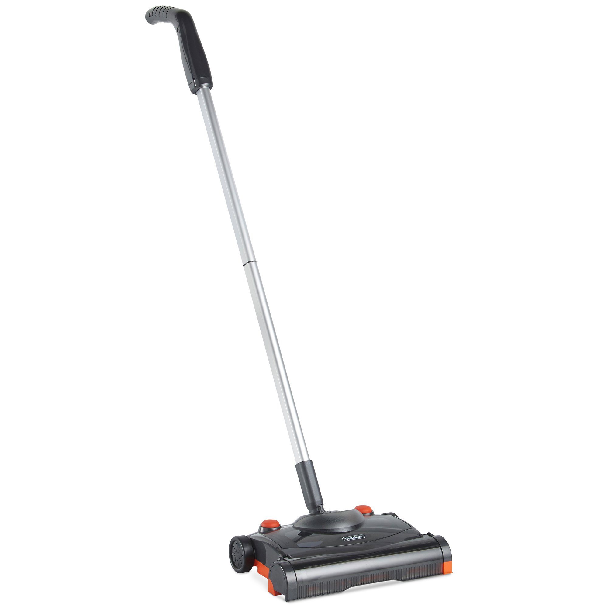 VonHaus Electric Hard Floor Sweeper - Cordless/Wireless Rechargeable Floor Sweeper/Broom with Rapid-Rotation Brush Head – Lightweight, Upright Cleaner for Carpet and Hardwood Floors
