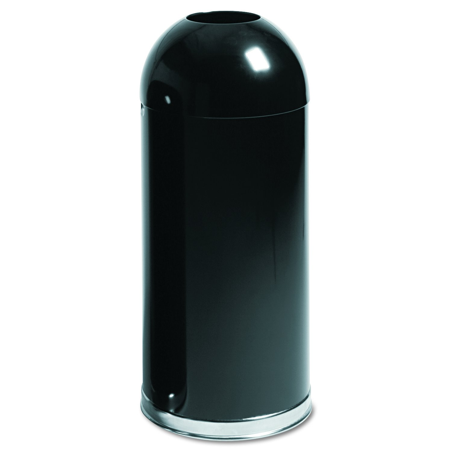 Rubbermaid Commercial Round Top Trash Can, 15 Gallon, Black, FGR1536EOTGLBK