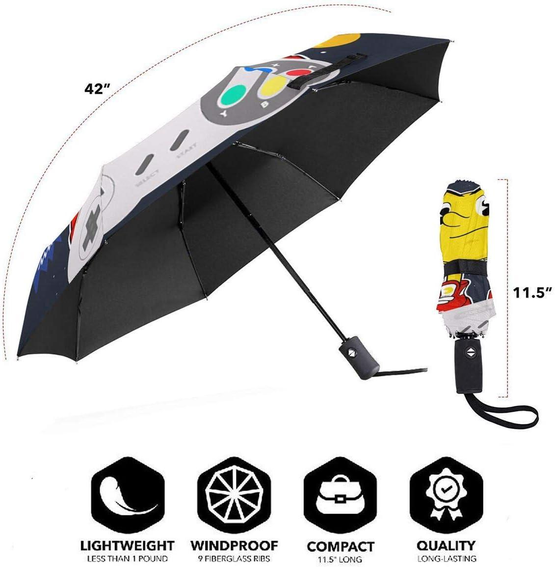 Xintaishirunjinluyoufazhany Miles Morales UV Protection Trifold Umbrella Sun Anti-UV Compact Travel Windproof Folding Automatic Open Auto Close for Unisex