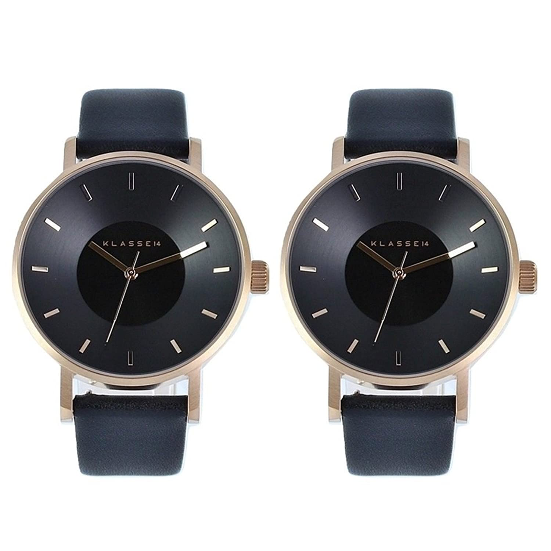 [クラス14]KLASSE14 ペアボックス付き メンズ レディース ペアウォッチ 腕時計 Volare 42mm ローズゴールド ブラック 黒 VO16RG005MVO16RG005M 腕時計 [並行輸入品] B07FKHZ5T1