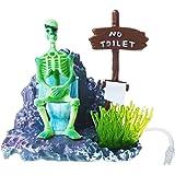 Saim Saim Pirate Skeletons on Toilet Live Action (Light Blue)
