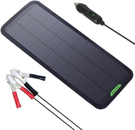Amazon.com: GIARIDE Cargador de batería solar de 7,5 W, 18 V ...