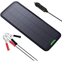 GIARIDE Solar Battery Charger Solar Trickle Charger 7.5W 18V 12V Sunpower Solar Panel Maintainer Backup for Car Boat RV Tractor Motorcycle and Auto Batteries