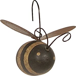 Primitives by Kathy 12161 Rustic Mini Ornament Set, Set of 12, Bee, 12 Count