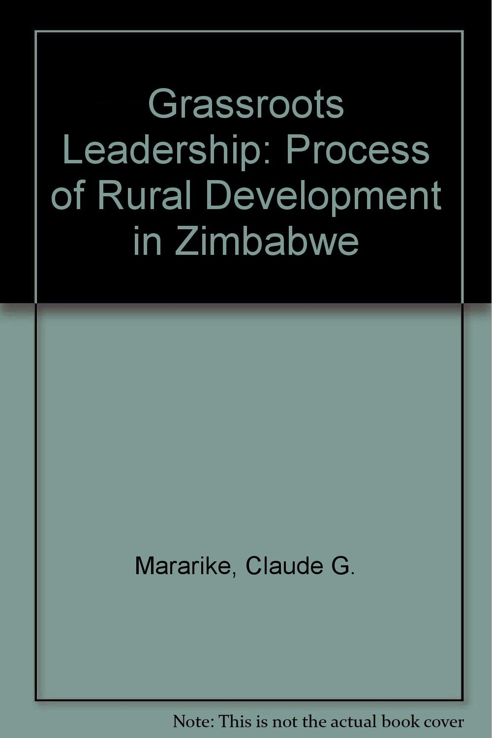 Grassroots leadership: The process of rural development in