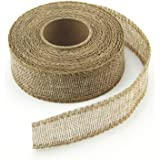 VATIN Natural Jute Burlap Ribbon Roll for For Bow Making, Wreaths, Floral Arrangements, Home Decor And Gift Wrap, 10 Yards