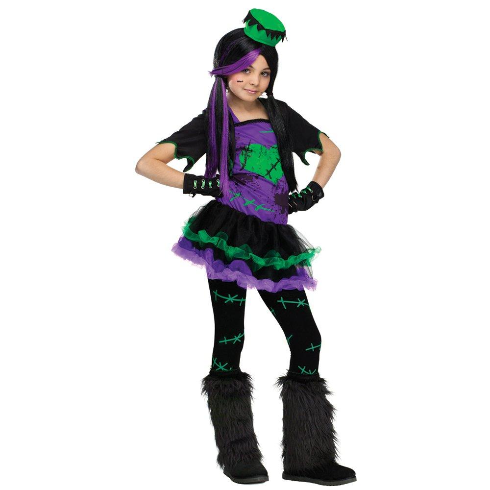 Fun World FW119523 Girls Funkie Tama-o Frankie Costume Large