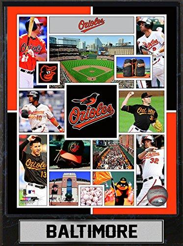 MLB Baltimore Orioles Sports Memorabilia Team Plague, Standard, Black
