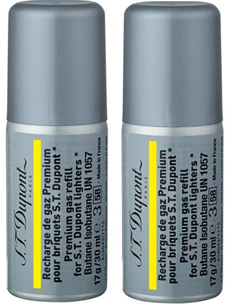 ST Dupont Multi-Fill Yellow (Gold) Butane Gas Refill (30ml) TWO PACK